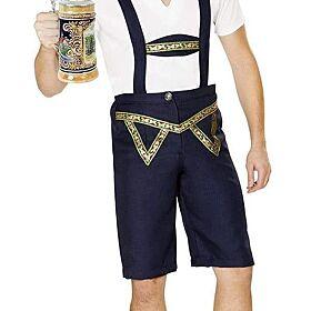 Men Oktoberfest Bavarian Lederhosen Costume