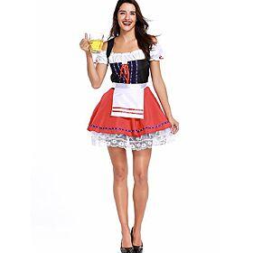 New Fashion Oktoberfest Costume German Bavarian Heidi Fancy Dress Up Dirndl Lederhosen Beer Girl Maid Costume