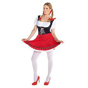 Womens German Lederhosen Costume Sexy Oktoberfest Dirndl Female